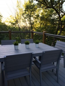 Composite Deck with horizontal stainless steel wires | Prime Fence & Deck Company, LLC